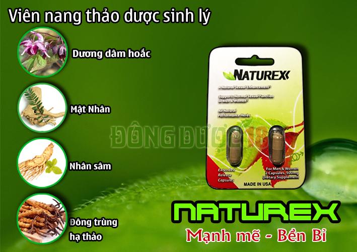 Viên uống cường dương Naturex được sản xuất theo công nghệ khép kín vô trùng theo tiêu chuẩn Mỹ